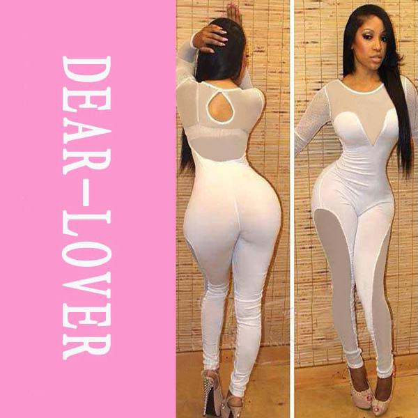 2018 Spring Winter Club Party Sexy White Mesh Catsuit Lc6354 Long Sleeve  Bodycon Rompers Jumpsuit Long Pants 2014 New High Street From Qq2937046832,  ...