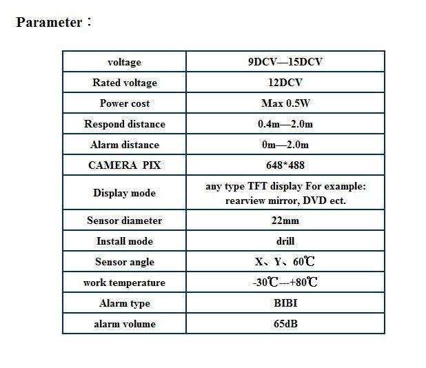 Araba Video Park Sensörü PZ600-6 6 Sensörler Ön Arka Park Reversing Sistemi TFT LCD DVD Dikiz Aynası RCA Kameralar AV Güç Kabloları