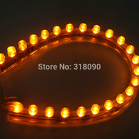 Gros-Super Bright + High Quality !! 10PCS Waterproof Car Flexible LED Strip PVC lumières 24cm PVC-24CM Blanc Vert Bleu Rouge Jaune