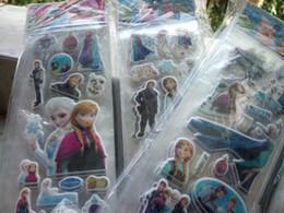 Wholesale Dolls Favors - cartoon frozen stickers frozen party supplies party favors ELSA ANNA princess classic toys for children baby toy