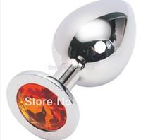 ingrosso spina di canna anale rosebud-Rosebud anale gioielli anale argento inserto in metallo in acciaio inox plug anale unisex giocattoli butt plug giocattoli anali
