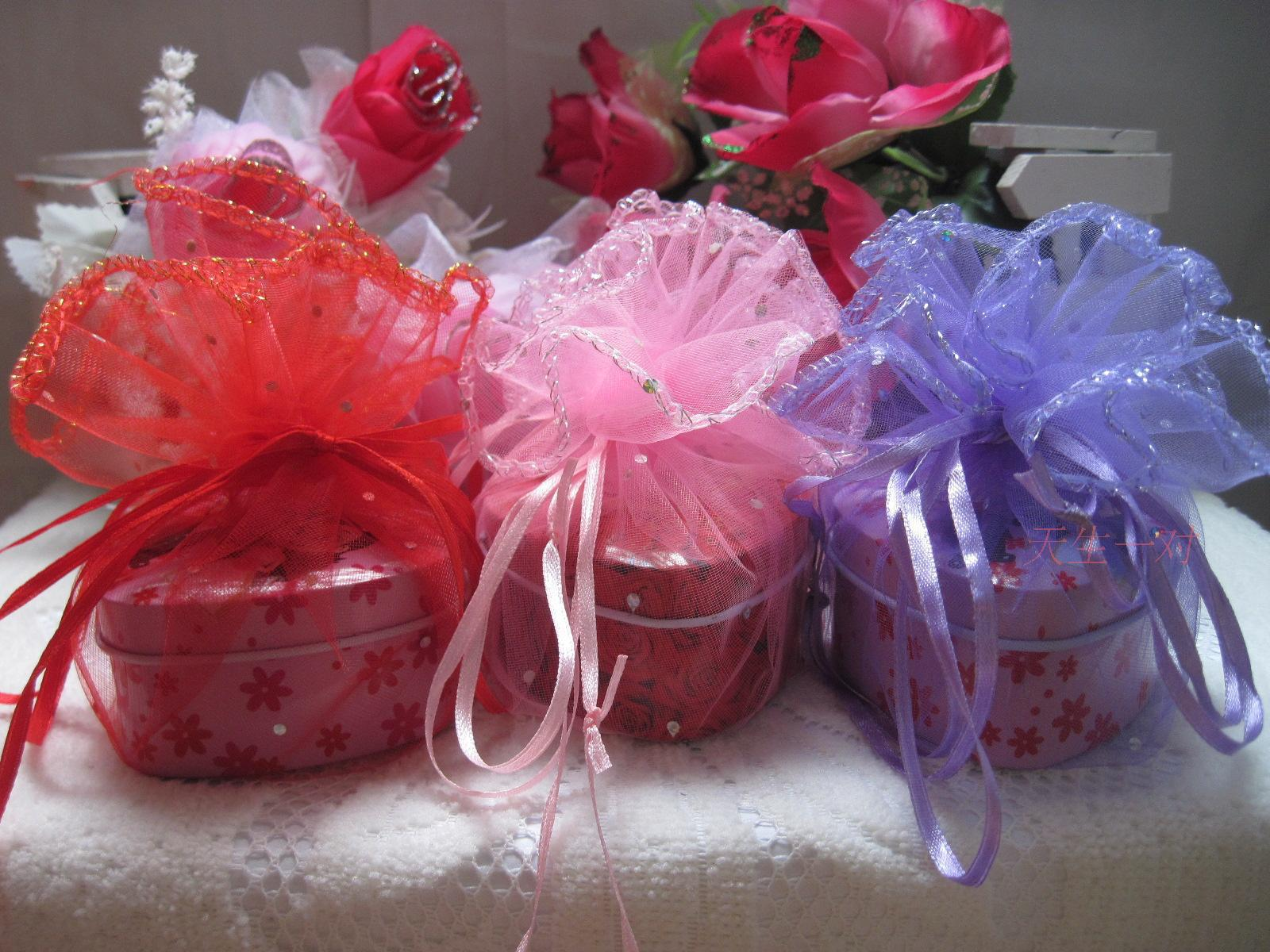 Wedding Favor Holders Candy Pouches Organza Bags Drawstring