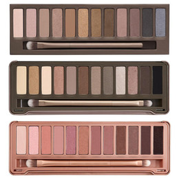 Wholesale Free Eye Shadows - HOT new Makeup Eye Shadow NUDE 12 color eyeshadow palette 15.6g High quality NUDE 1.2.3. DHL Free shipping+GIFT