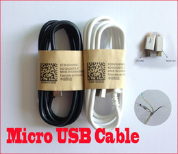 Wholesale Galaxy S2 Charging - High Quality 1M3FT Micro USB Data V8 Sync Charge Cable For Samsung Galaxy S4 S3 S2 N7100 Note 2 3 Blackberry HTC Sony Charger Cables MQ200