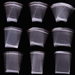 Wholesale Adhesive Bags For Jewelry - OPP bag hanging hole ziplock bag   transparent packaging self-adhesive plastic bags jewelry bags for necklace bracelet earring