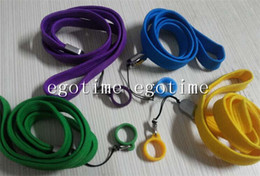 Wholesale Ego Ecig Necklaces - E-Cigarette EGO STRING EGO ego ring ego necklace ego lanyard rope with ego Silicone ring adapter ego bag for Evod ego ecig 510 ego ce4 ce5