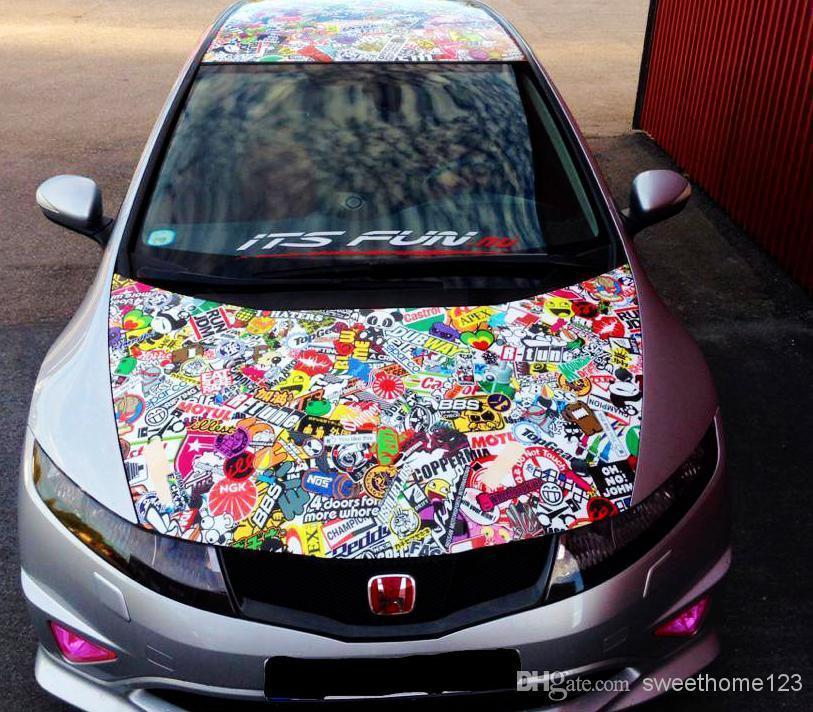 Fashion Diy Graffiti Car Sticker Car Wrapping Auto