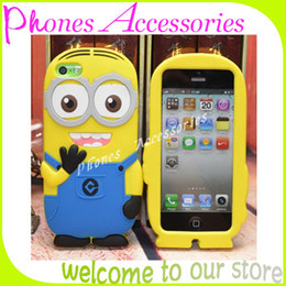Wholesale Despicable Phone Case Cover - i6 Despicable Me 2 Mobile Phone Case 3D Soft Silicone Covers for iPhone 6 6G 4.7 inch Case Without OPP Package