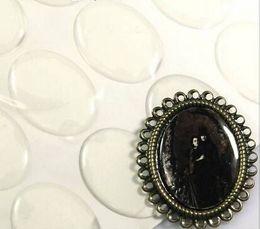 2019 клейкая этикетка 40 * 30 мм овальная эпоксидная наклейка 3D кристалл клей наклейки дешево клейкая этикетка