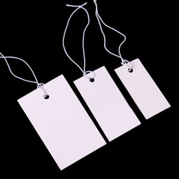 Ornements de ligne en Ligne-Étiquette de ligne blanche étiquette de prix Étiquette de bijoux ornements Marque Bijoux Carte Étiquettes de prix 1.7 * 3.5 cm, 2 * 4 cm, 3 * 4.8 cm