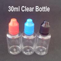 Wholesale Clear Pet Bottles - 2014 On Sale Clear Dropper Bottle PET Long Thin Tip 30ml Eye Dropper Bottle,30 ml Childproof Bottle With Childproof Cap 1600Pcs lot