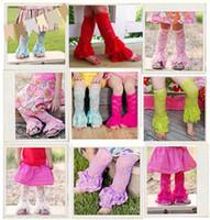 Wholesale Girls Legging Children Flower - Hot sell Cute Girls Lace Sock Child Flowers Lace socks Baby colorful lace leg warms 3894