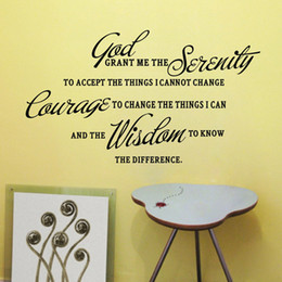 Wholesale God Wall Decal - GOD GRANT ME THE SERENITY PRAYER BIBLE Art Quote Vinyl Wall Stickers Decal Home Decor Room Mural Decoration HG-WS-071950