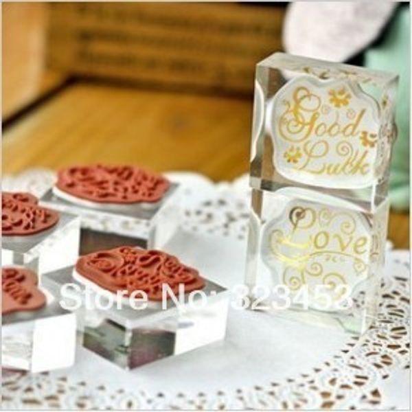 10Style Wish Words DIY забавный резиновый Кристалл Валентина сообщение штамп набор для дневника скрапбукинга фотоальбом украшения милый подарок