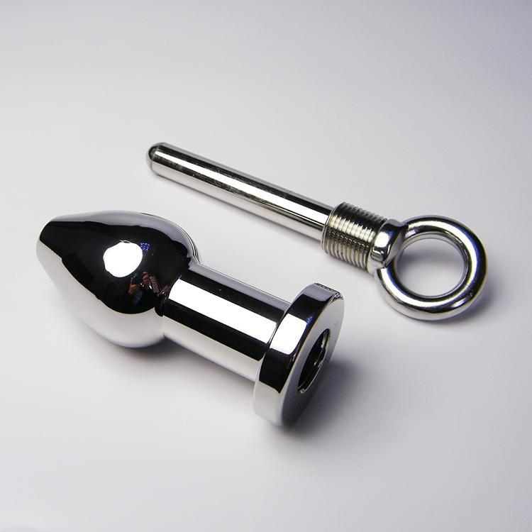 500g Heavy Real Stainless Steel Attractive Clyster Flush Butt Plug Anal Plug Enema tubing Sex Toys