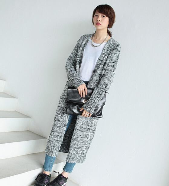 2015 New Thick Long Sweater Cardigan For Women Autumn And Winter ...
