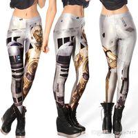 Wholesale Stretch Spandex Pants Wholesale - Ms leggings milk silk material digital printing leggings lady stretch tight pants leggings fashion cultivate one's morality