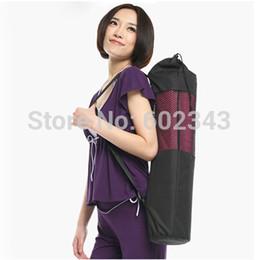 Gros-Vente chaude populaire Portable Yoga Tapis Sac Polyester Nylon Maille noir sac à dos pour les femmes hommes santé beautity sports livraison gratuite ? partir de fabricateur