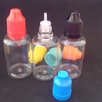 Wholesale Ego Clear - 2015 eGO Hot 30ml Clear Dropper Bottle PET with Long Thin Tip Eye Dropper Bottle 30ml Plastic Bottle With Childproof Cap 1600Pcs lot