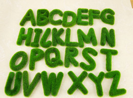 Wholesale z home - 6pcs 9*7 Artificial Grass Letter Alphabet A-Z Flower Decorative Home Wedding Craft