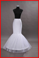 Wholesale Crochet Best - Best Selling White Wedding Bridal Mermaid Petticoat slip 1 Hoop Bone Elastic Wedding bridal Dress Crinoline Trumpet Petticoats