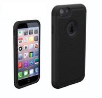 étui rigide en caoutchouc mat achat en gros de-Pour Apple iPhone6S i6 Hybrid Case, Robot Combo Impact Armure En Caoutchouc Mat Robot Antichute Lourd Couverture Dur Pour IPhone6