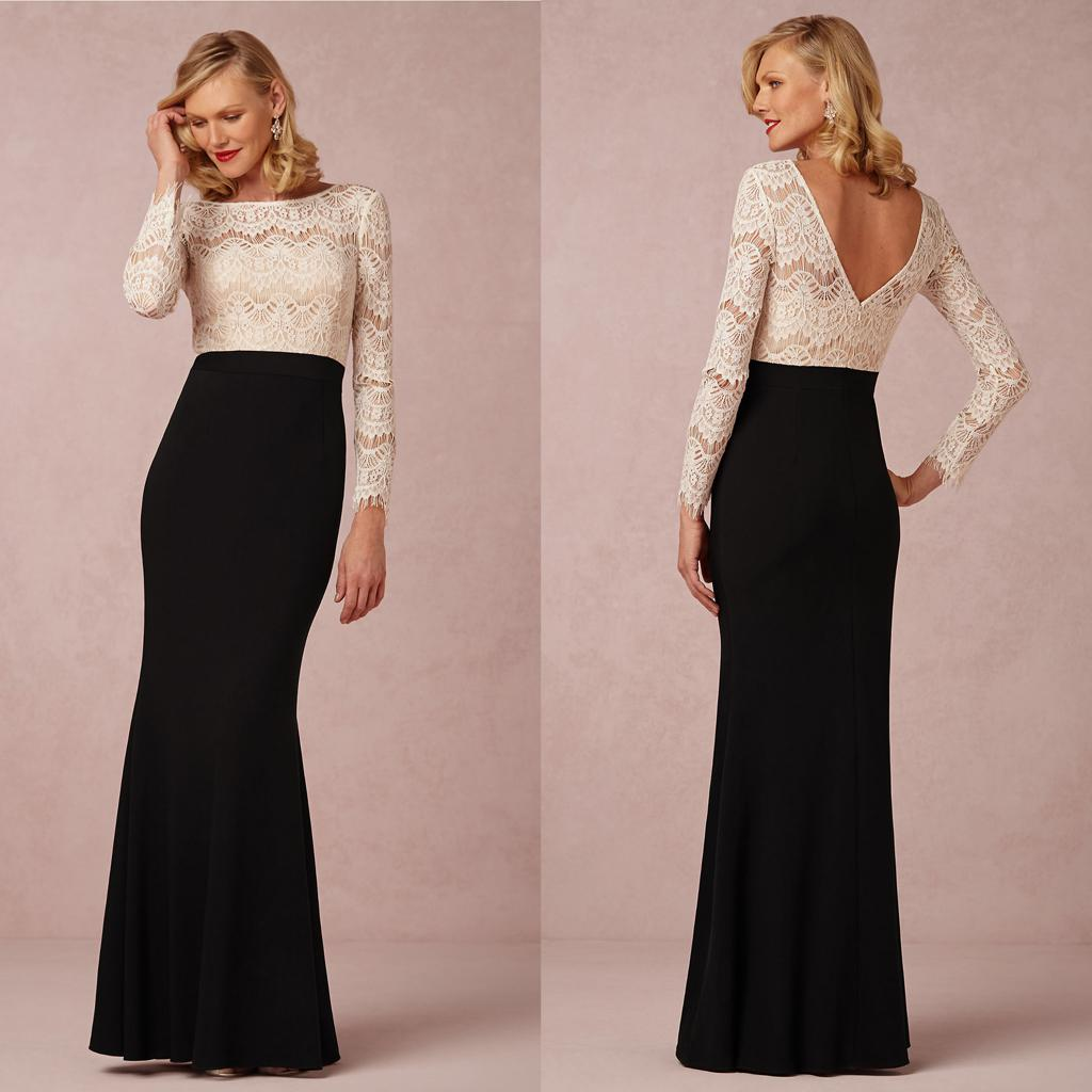 Elegant Long Sleeve Mother Of The Bride Dresses 2016 With Sexy ...