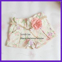 Gray cute fashion pants online shopping - Fashion Flower Shorts Child Clothing Wear Summer Shorts Children Casual Pants Girls Cute Lace Shorts Kids Pants