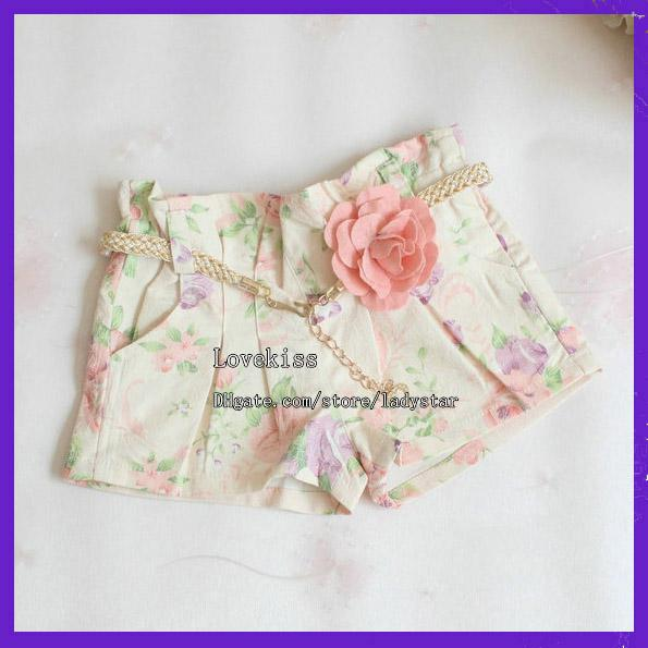 best selling Fashion Flower Shorts Child Clothing Wear Summer Shorts Children Casual Pants Girls Cute Lace Shorts Kids Pants