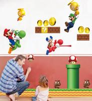 Wholesale super mario decal stickers resale online - 2014 New Arrival Super Mario Bros Boy Room Kids Room Nursery Art Decal Mural Wall Sticker Decor