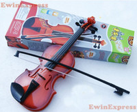 Wholesale Music Instruments For Kids Wholesale - 2x Hot Good Red Brown Simulation Violin Earlier Childhood Music Instrument Toy for Children Kids Free Shipping