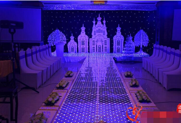 Luxury Fantasy Crystal Wedding Mirror Carpet Aisle Runner T Station Stage Decoration LED Carpets 2014 New Arrival