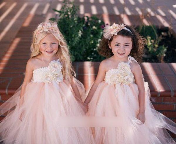 Wedding Dress Summer Suspenders Flower Bubble Tutu Tulle Lace Girls Dresses Sweet Dream Children Girls Dresses Party Formal Dressy J1737