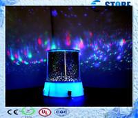 Wholesale Cartoon J - Novelty Rotation Room Night Light Lamp Flashing Cosmos Starry Star Night Sky Projector Light Lamp Baby Care-J