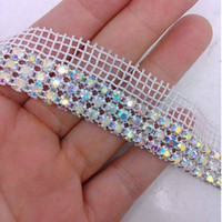 1 Quintal 3rows transporte bolo diamante AB Rhinestone casamento Banding guarnição Cake Decoration Ribbon gratuito