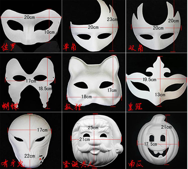 Satin Al Iyi Diy Maske El Boyali Halloween Beyaz Yuz Maskesi Zorro