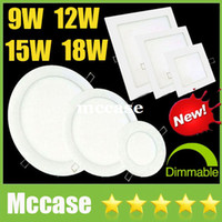 Wholesale Dimmable Led Csa - 20% OFF-Ultrathin Square Round 9W 12W 15W 18W Dimmable LED Panel Lights Downlights 160 Angle Fixture Recessed Ceiling Down Lights CSA SAA UL