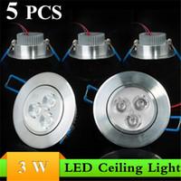 Wholesale Dimmable Led Downlight Spotlight Fixture - LED Downlight 3W LED Ceiling Light 85-265V Dimmable Downlight Led Spotlight Fixture Lamp White ,Warm White Indoor Lighting