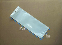 Wholesale Stylus Pen Bags - 20x7cm white clear zipper plastic Pearl Retail Packaging Bag,poly PP bag For Stylus Capacitive Pen package bags