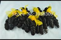 "Wholesale Genesis Hair Wholesale - Good products8A (4 piece   lot) Peru genesis virgin hair aunty funmi hair Natural black romance curl length 8 ""to 20"" funmi hair"