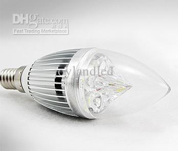 Wholesale - Free shipping Dimmable 4x3W 5x3W High Power E27 E14 LED Candle Bulb Light Lamp 1pcs
