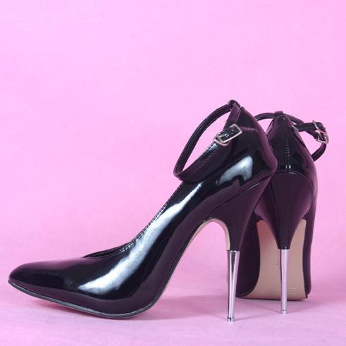 13cm metal stiletto heels sandals - 2 3