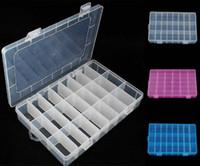 komponentler saklama kutusu toptan satış-1 ADET Çeşitli Eşyalar Toplamak Kutu Bileşenleri Saklama Plastik kutu 24 ızgara toplama kutusu Toplamak 672095
