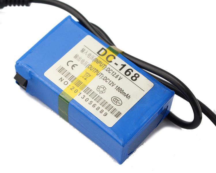 CCTVカメラ1800mAh用ポータブル12V Li-PO超充電式バッテリーパックDC