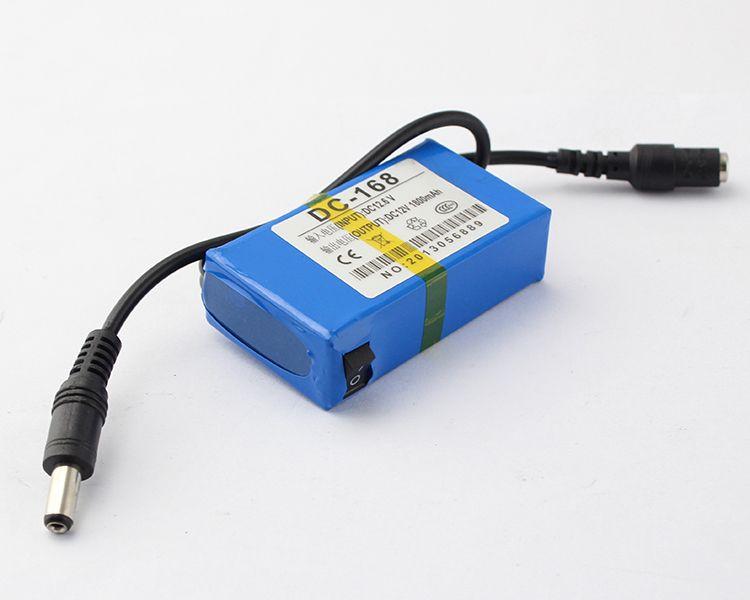 Bärbar 12V Li-Po Super Rechargeable batteripaket DC för CCTV-kamera 1800mAh