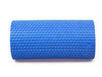 Wholesale Yoga Foam Rollers - Wholesale-New Hot Sale Blue 30x15cm EVA Yoga Pilates Fitness Foam Roller With Massage Floating Point#56305