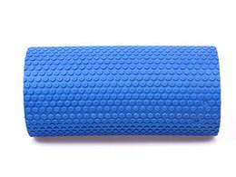 Wholesale Yoga Foam Rollers - Wholesale-New Hot Sale Blue 30x15cm EVA Yoga Pilates Fitness Foam Roller With Massage Floating Point#56305