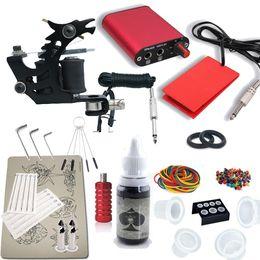 Wholesale Tattoo Starter Kits Free Shipping - Wholesale-Tattoo Starter Kit Machine Guns color inks Supply Set Equipment free shipping