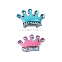 Wholesale Personalized Dog Jewelry - Wholesale-Wholesale Personalized 10mm Rhinestone Slider Crown For Dog Collar DIY Pet ID Tag Jewelry