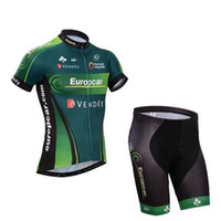 Wholesale Europcar Sleeve - Europcar Team Cycling Jerseys Stylish Short Sleeves Bike Suit Fadeless Cycling Clothing ( Cycling Top + Padded Shorts